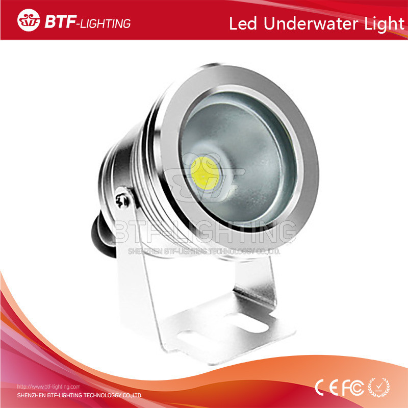 10W 12V-24V Plain mirror underwater light Green/Red Color underwater pool light Silver/black/gold surface
