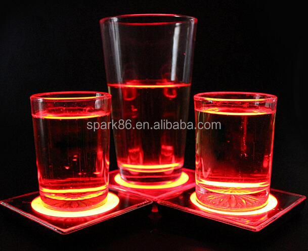100mm light up led coaster led bottle coaster light up glow led coaster