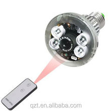 New Arrival wifi bulb camera led lighting bulb cctv camera hidden spy night infrared ip camera