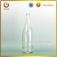 Hot sale 750ml clear glass moet & chandon champagne glass bottle