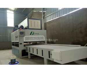 HF conveyor edge gluer for cabinet production line with hydraulic press