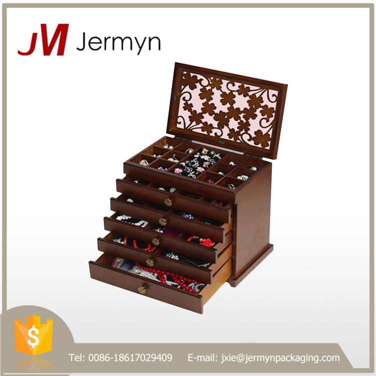 Luxury high quality wood jewelry storage case for wholesale