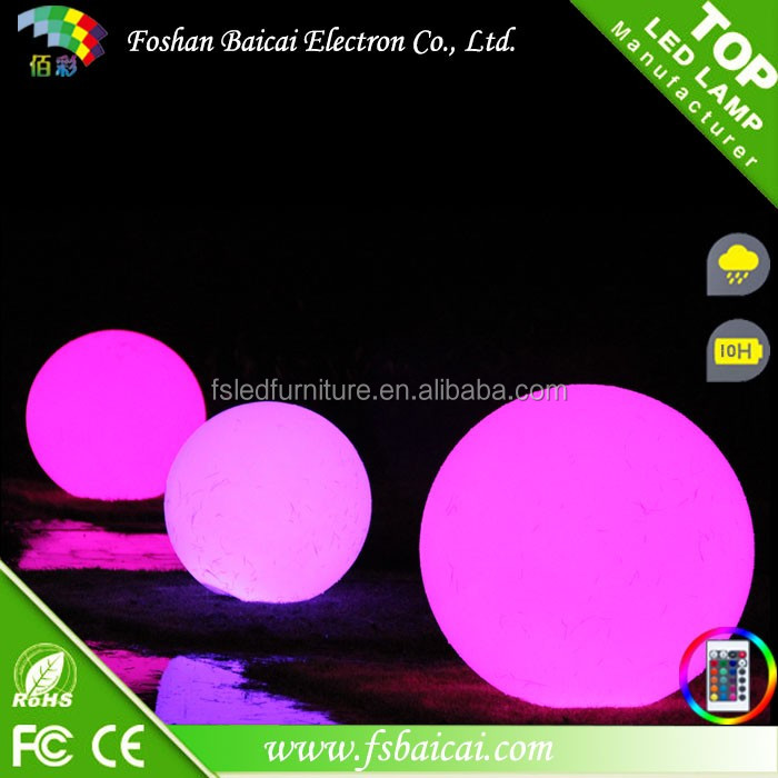 Floating LED Small Swimming Pool Lighting Ball 16 Colors Waterproof IP68