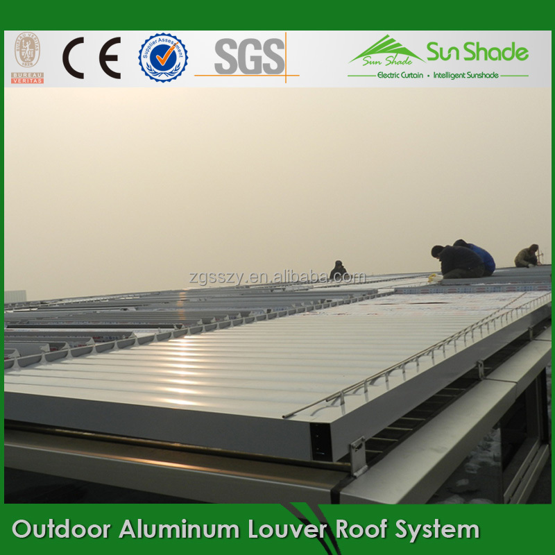 Motor Driving Adjustable aluminium louvres for outdoor louvres