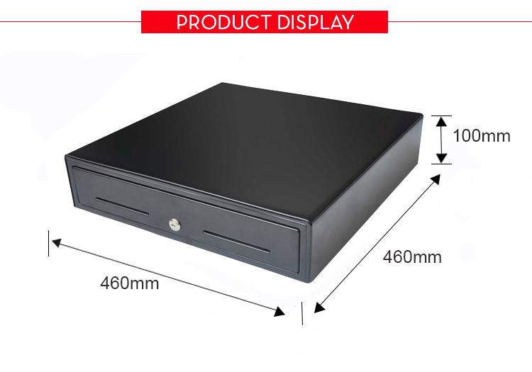 Grand espace verrouillable plateau couverture pos tiroir-caisse