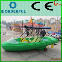 CE approved new deluxe leisure pedalo fiberglass 4 person paddle boat for sale