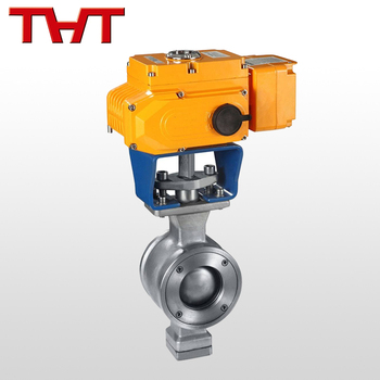 rb electric motor operated Fixed V ball valve