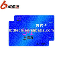 Embossing Number PVC Business Card