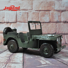 3D Metal Model, Military Jeep Model Scale 1/12 for Home Decor