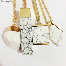 Allibaba Com Fashion Jewelry Texture Lines Marble Stone Pendant Necklace
