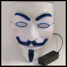 2017 Hot Sale Halloween Costume Party Mask LED Mask Of V for Vendetta