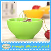 China manufacturer flexible silicone mixing bowl , washable fruit bowl kids silicone bowl