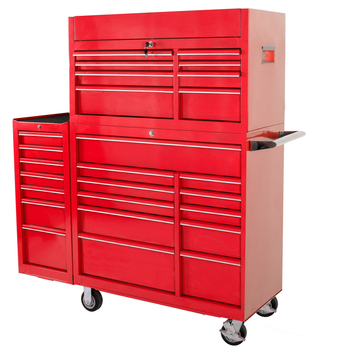 58 Inch 28 drawer large Heavy duty Red Metal used industrial storage tool cabinets