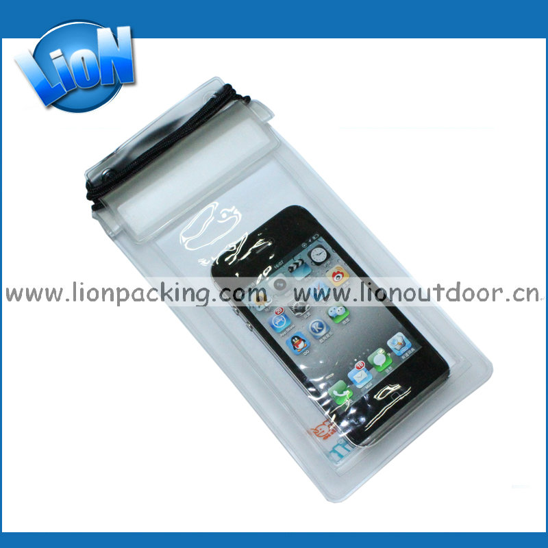 China Made Plastic Waterproof Mobile Bag Pvc Phone Bag waterproof smartphone bag