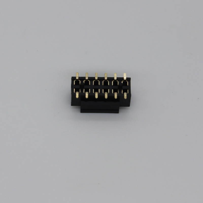 Dual rows smd 12 pin 2.0mm female header connector with cap