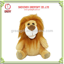 2014 Christmas Day promotional gift plush toy lion speaker music toy Mp3 toys