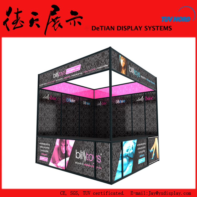 3x3 20x20 Surrounded Walls Black Trade Show Booth Exhibit Display