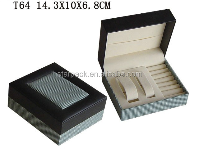 Luxurious Art Paper Packing Plastic Jewellry Box for Couple Watch and Ring Made in China T64