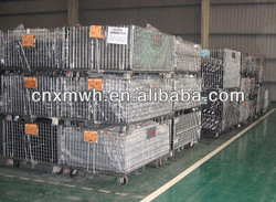 Wire steel mesh cage trailer