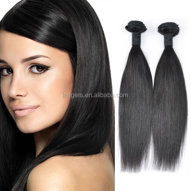 Alibaba Direct Factory Wholesale 100% Virgin Unprocessed Original Natural Human Straight Extensions Brazilian Hair Weave