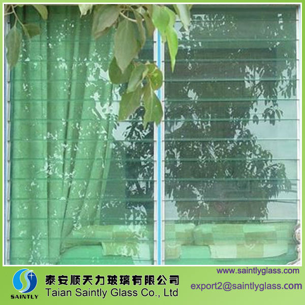3-6mm tempered clear float window glass ,jalousie glass window,safety glass window