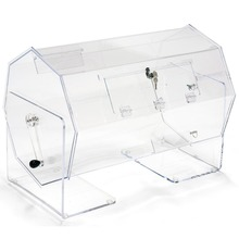 Countertop Acrylic Raffle Ticket Drum Raffle Box