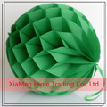 25cm Green Paper Honeycomb Balls Christmas Party Decoration