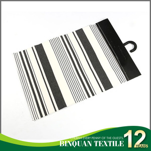 In stock black and white stripe spandex punto roma knitting fabric for sportswear