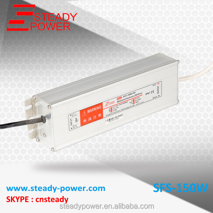 High quality SFS-150-15 led driver 150w 10a ac 220v dc 15v waterproof power supply ip67