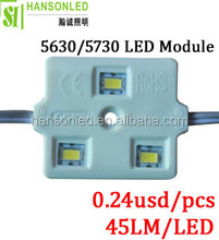 3pcs samsung 5630 /5730 led module with lens 5730 LED injection module