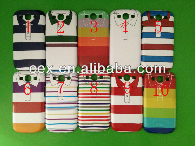 For Samsung Galaxy S3 i9300 High Quality Ultra Thin PC Plastic Matte Customize Clothes Design Case