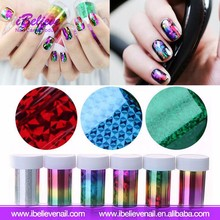 Popular Nail Decoration Foil Metallic Nail Art Transfer Foil With Different Design