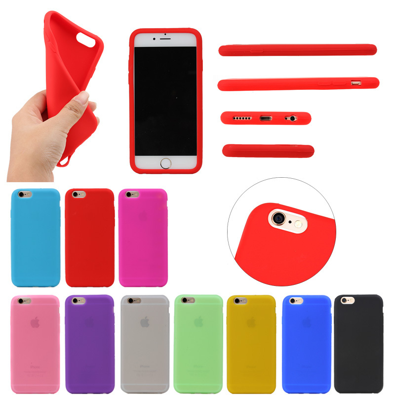 2016 New Arrival Silicone Case for iPhone 6,for iPhone 6 6S Soft Silicon Gel Rubber Case Skin Cover China Supplier