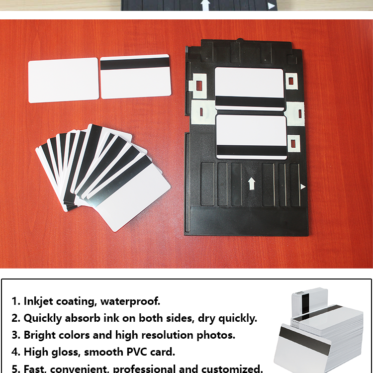 3 Track Magnetic Stripe High quality Inkjet Blank HF F08 PVC Magnetic rfid  Cards