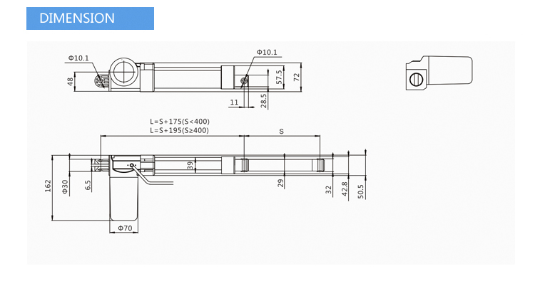 Jiecang JC35DN strong and robust design low noise IP66 max load 6000N 12V linear actuator