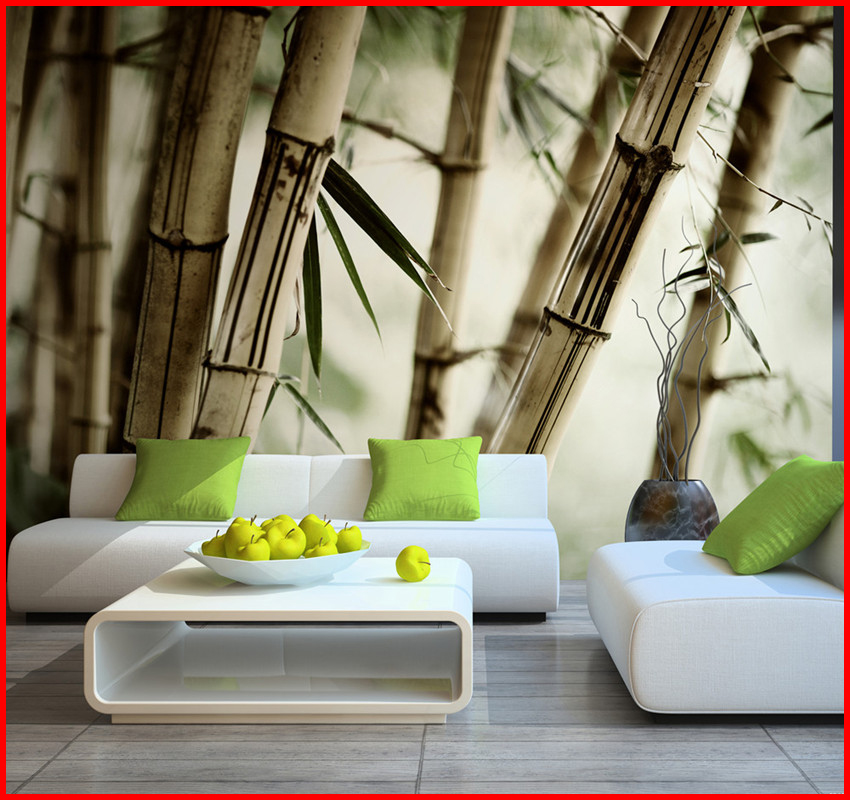 Digital Printing Non-woven wallpaper with a pattern of bamboo