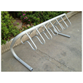 Multiple loops floor mounted bike rack for parking