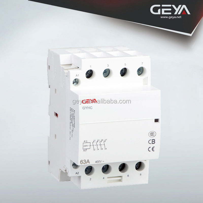 GEYA Automatic Electricity 2NO 2NC GYHC 63A AC Mini Contactors 4 Pole