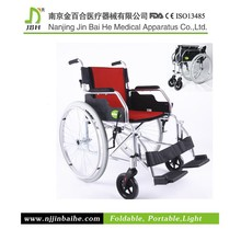 Street foldable self propelled ultralight leisure wheelchair