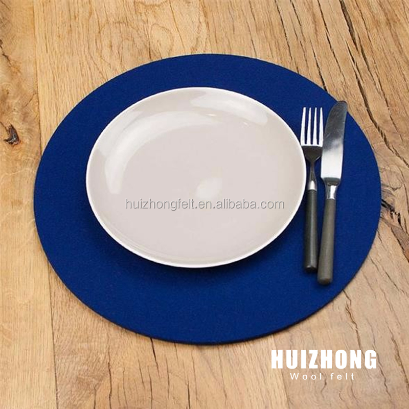 factory customized felt Round dining table mat Felt 15 cm Heat Insulation Resistant Mat Pad