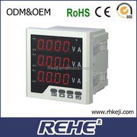 digital panel meter with amp volt hz cos w var kwh varh frequency kwh electric meter RH-3FD2Y LCD