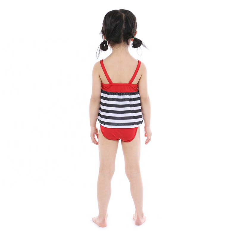 wholesales girls toddler baby swimsuit summer beach outfit girls bowknot striped swimsuit