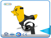 PE material ride on animal toy with spring for children