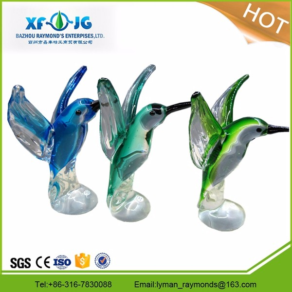Murano glass colorful bird