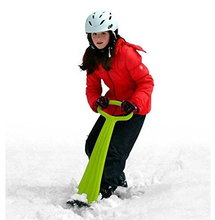 2 X Youth Snow Scooter Christmas Winter Board Ski Sledge Foldable Easy SNOW KICK SCOOTER Downhill Ski Scooter Adult Kids Plastic