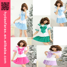 Multicoclor Japanese School Uniform Cosplay Costume Anime Dress Navy Sailor high school uniform sexy costume