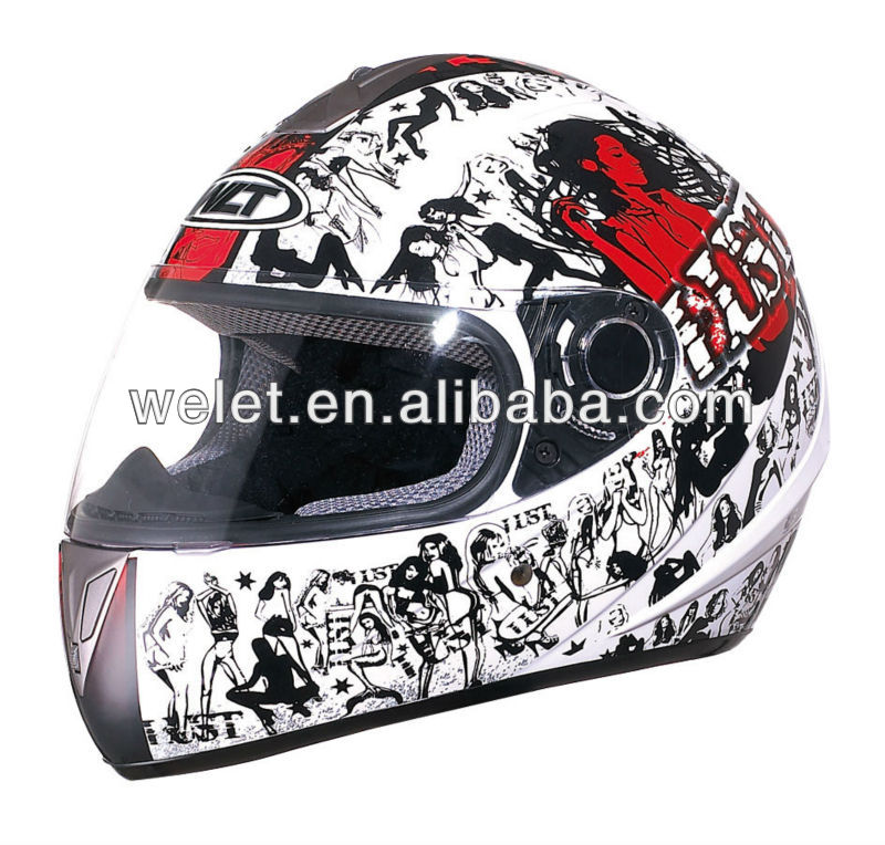 High Quality full face Helmet abs plastic helmet lemon/silver 4#