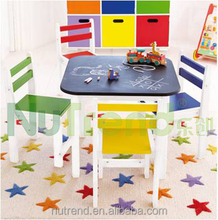 professional design wooden kids study table and chair designs for home