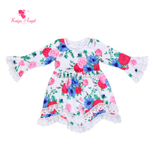 fashion flower beautiful girl dresses baby girl frock design