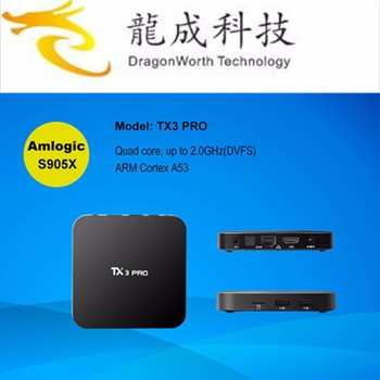 Newest Android 6.0 TX3 Pro S905X 1G 8G Quad core Smart TV Box Wifi 4K 2.0 GHz KDplayer 16.1